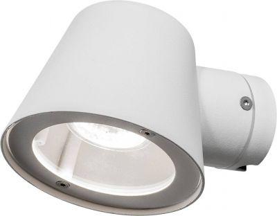 Halogen Wandaußenleuchte 1xGU10 max. 35W/230V Weiß IP44 Aluminium 11x11,5x15,5cm
