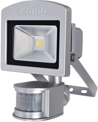 Ledino LED-Strahler Silber 10W Bewegungsmelder 6500K Alu IP44