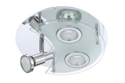 Briloner LED Deckenleuchte 3 Flg. Chrom Schwenkbar GU10 Leuchtmittel tauschbar