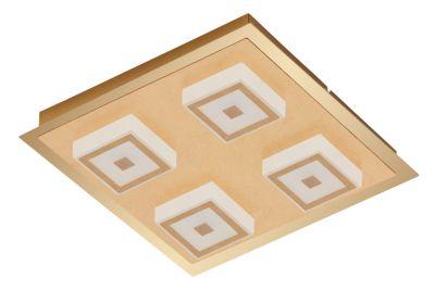 Wandleuchte Deckenleuchte 4x LED je 5W Gold Metall 1600lm Warmweiß 28x28x5,4cm