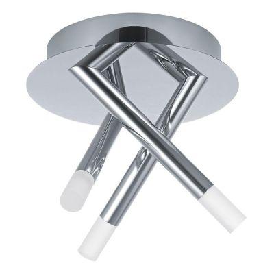 led deckenleuchte chrom 3 flammig deckenlampe je 250 lumen. Black Bedroom Furniture Sets. Home Design Ideas