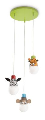 Diese Kinderleuchte bringt garantiert Spass in jedes Kinderzimmer. Die Lampe wurde speziell für Kinder entworfen. Zebra, Affe und Giraffe bringen nicht nur Licht in jedes Zimmer sondern auch jede Menge Freude!