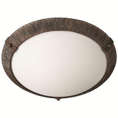 Deckenleuchte Rustikal Scavoglas E27 Braun Ø 36cm