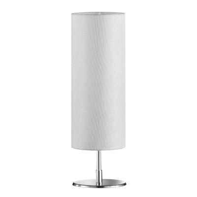 Die moderne Tischleuchte Fun ist in einem Struktur Weißton gehalten. Sie erzeugt ein harmonisches Licht dank des runden Stoffschirms.