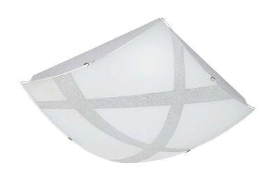 Eckige LED Deckenleuchte Weiß Dimmbar Fernbedienung  40x40cm Timer Dekorglas