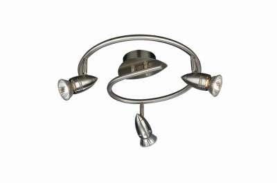 Halogen Spirale Deckenspirale Deckenlampe Spot Comet Leuchte Silber