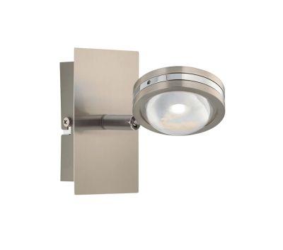 Spot 1x LED 5W/230V Silber Glas Metall Schwenkbar Regenbogeneffekt 11x6cm
