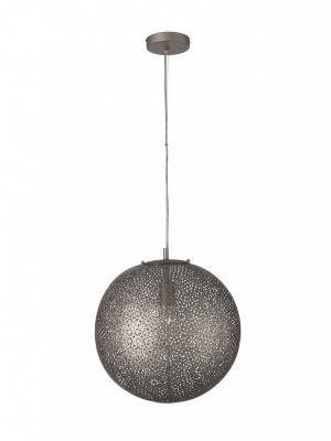 Pendelleuchte Bourbon Kugelleuchte Metallpendel Dunkel Silber Durchmesser 39cm