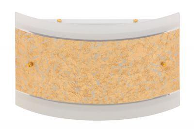 Wandleuchte Gold Glas Metall 2 flammig 30 x 20 x 7,9cm