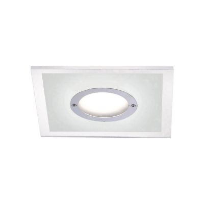 Einbauleuchte LED 5,5W/230V Chrom 4-Stufen Dimmbar Warmweiß 350lm 13x13x4cm