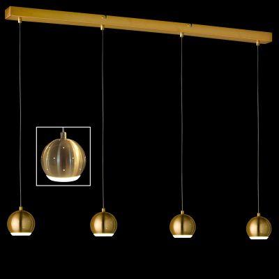 LED Pendelleuchte Bronze 4 Flammig 1880 Lumen Höheneinstellbar Dimmbar