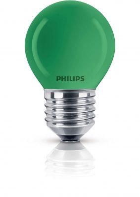 Philips Leuchtmittel Tropfenform E27 Kugel 15W Grün Glühlampe Partylight