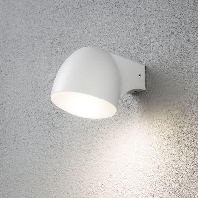 LED Wandaußenleuchte 4W/230V Weiß Aluminium IP44 Warmweiß 13x13x18cm