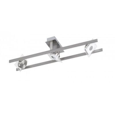 LED Deckenleuchte 3x4,5W/230V Schwenkbar Nickel Matt 900lm 67,5x16,5x16,5cm