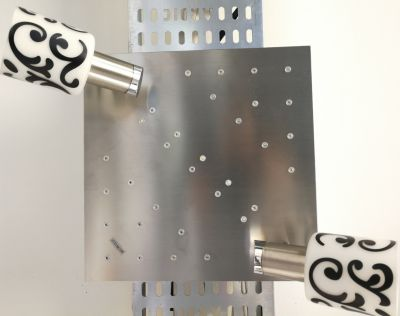 Eglo MY CHOICE Deckenleuchte Dekorglas Schwarz Weiß 2 Flammig Energiespar + LED