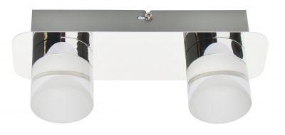 LED Deckenlampe 2x5W je 359lm Metall Kunststoff Chrom 3000K 15x7,5,9,5cm