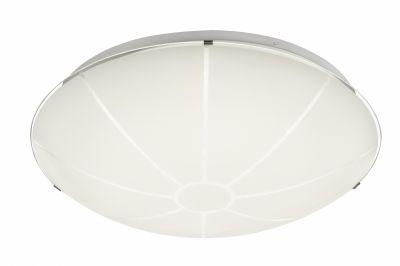 LED Deckenleuchte Dimmbar Fernbedienung Weiß Metall Glas 2000lm Hpöhe 11cm Ø40cm