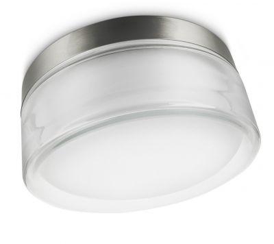 Philips Energiespar Wandaussenleuchte Edelstahl Glas Ø 25,7cm