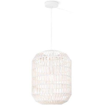 Pendelleuchte Kordelgeflecht Weiß LED tauglich 1x E27 max.60W/230V Ø35cm H150cm