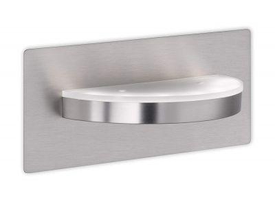 LED Wandleuchte 6W Metall Glas Nickel Matt Schalter 600lm 3100K 13x24cm