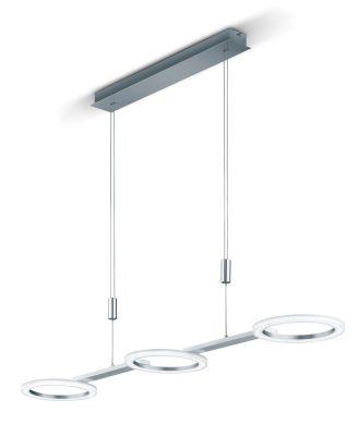 Deutsche LED Pendelleuchte Höhenverstellbar Nickel Chrom Dimmbar 3600lm