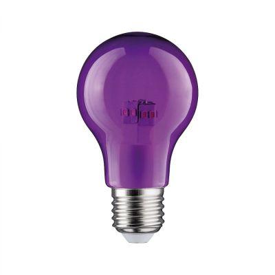 Paulmann LED Lampe Glühbirne E27 Leuchtmittel Dekorativ Violet Lila