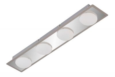 LED Badleuchte Deckenleuchte Chrom Matt Nickel 4 Flammig 3000K 1600lm IP44
