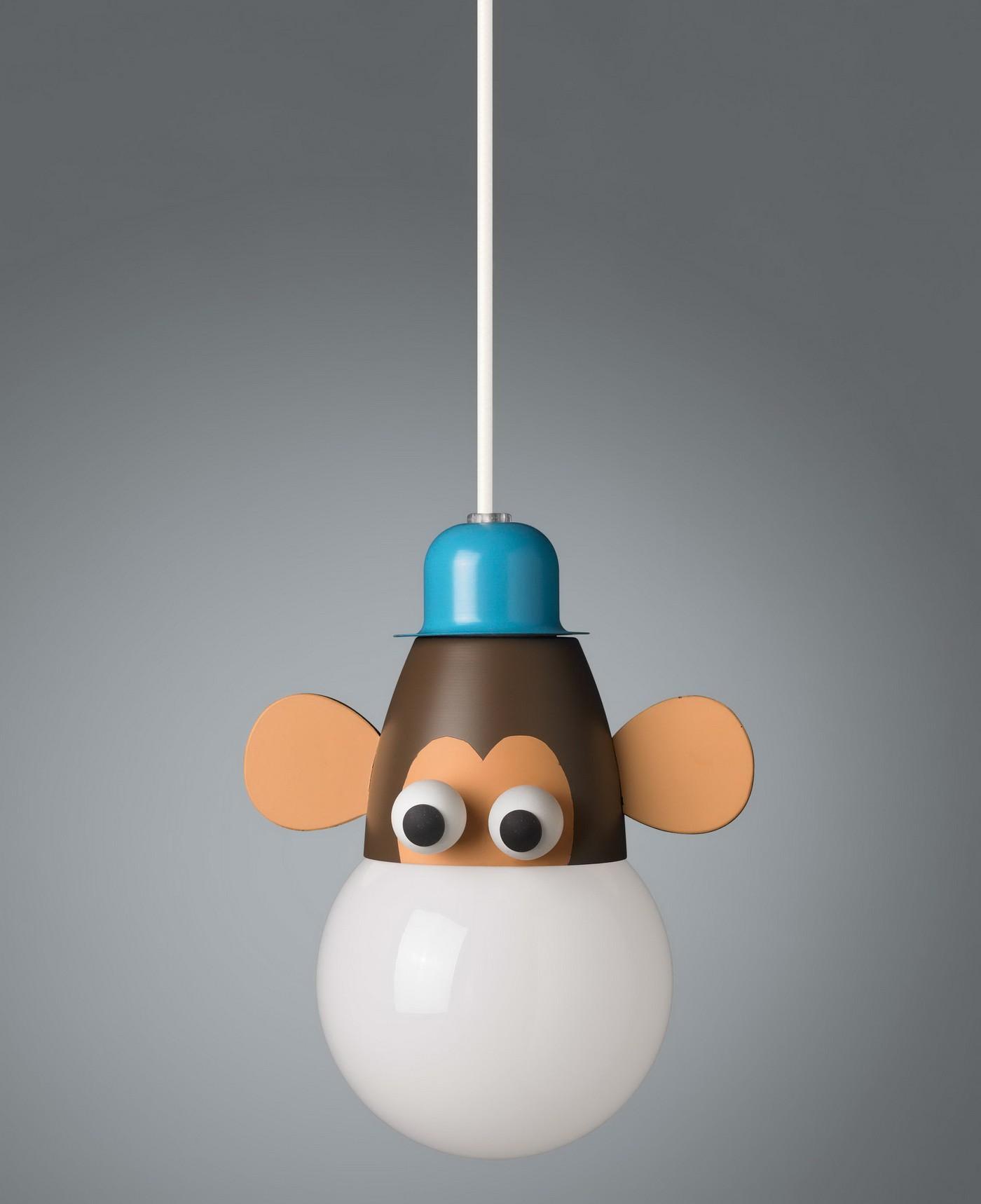Kinderzimmerlampe Kiko Monkey Pendelleuchte Energiespar Pendel