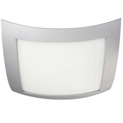 Deckenleuchte 2-flg. Deckenlampe Energiespar Grau Glas 40x40cm