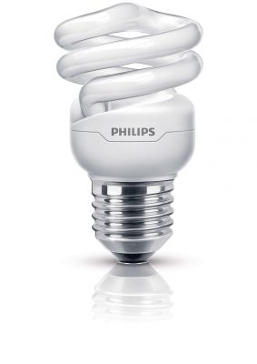 Philips Energiesparleuchtmittel E27 Spiralförmig Energiesparlampe Leuchtmittel 8W Tornado