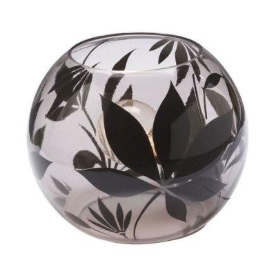 Tischleuchte Chesty Modern Glas Schwarz Klar 1xE14 max. 40W Ø15cm