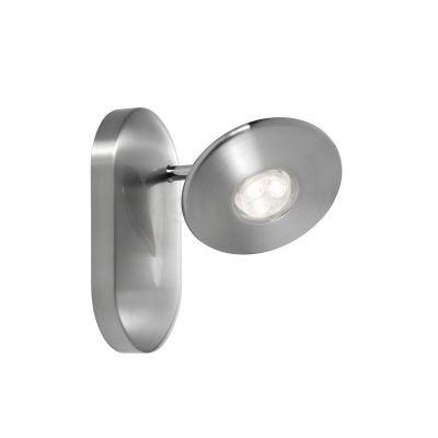 Moderner runder Wandspot Kavo aus gebürsteten Stahl mit modernster LED Technologie.