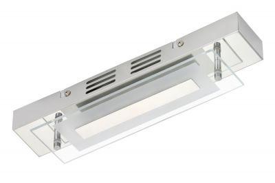 Briloner Schmale LED Badleuchte Deckenleuchte Chrom 500lm 3000K 30x7x5,5cm