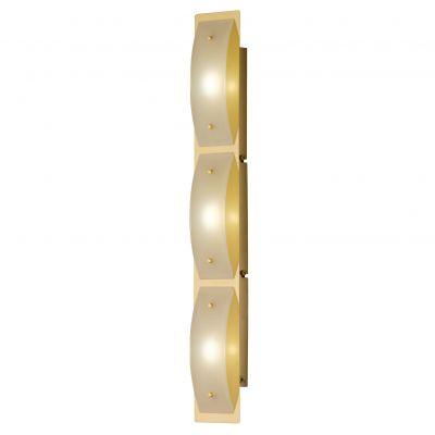 LED Wandleuchte Liana Messing 3x4W/230V Glas Schalter 300lm 3000K 60x9x6cm