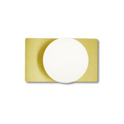 Deutsche LED Wandleuchte Messing matt/blank 900lm 9 Watt Ein-Ausschalter 22x13cm