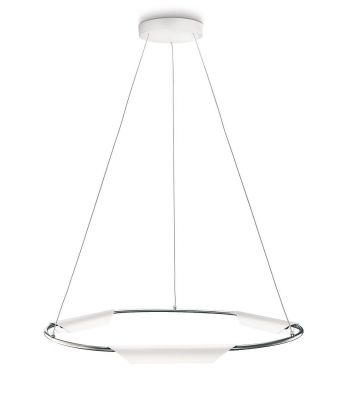 Hänge-/Pendelleuchte Power LED 3x7,5W Metall Weiß 2700K 630lm Höhe 158cm Ø63cm
