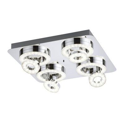 LED Deckenleuchte Chrom Fernbedienung Dimmbar RGBW Farbwechsler Schwenkbar