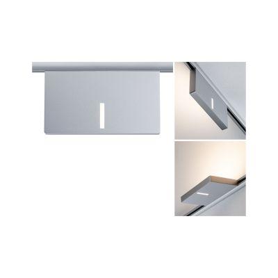 Paulmann URail LED Spot Uplight 16W/230V Chrom matt 1408lm 2700K 16,5x9x1,9cm