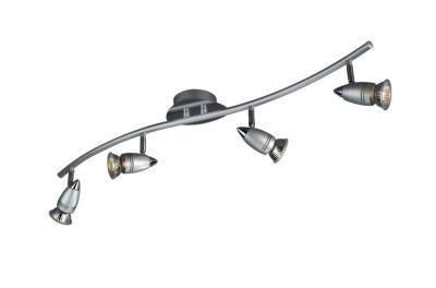 Halogen Spotschlange Deckenleuchte 4 x 50W  GU10 Grau Metall 76x15x10cm