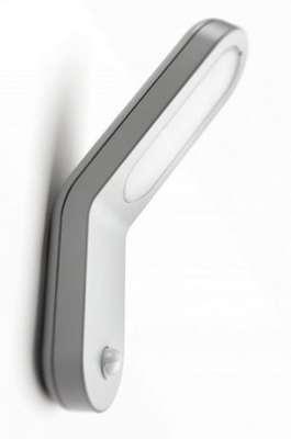 Philips Ecomoods IR Energiespar Wandleuchte Bewegungsmelder Grau