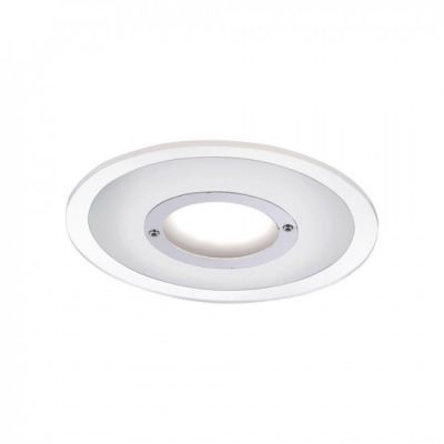 Einbauleuchte LED 5,5W/230V Chrom 4–Stufen Dimmbar Metall Acrylglas Ø13cm IP44