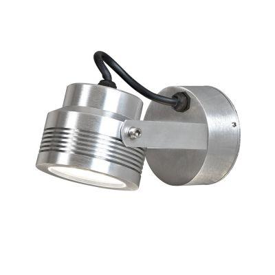 Konstsmide LED Wandaussenleuchte Eloxiert IP54 Aussenleuchte Aluminium 480lm Schwenkbar
