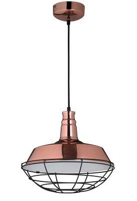 Hänge-/Pendelleuchte Copper Metall Kupferfarbig Industrieleuchte E27 Ø36,5cm