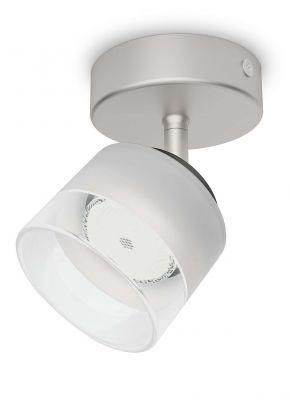 Philips LED Deckenleuchte 4W Silber 330lm Schwenkbar Spot Glas Wandleuchte