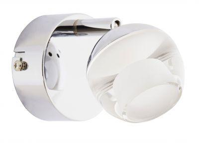 LED Wandleuchte Deckenleuchte 5W/230V Chrom Metall 358lm 3000K 8x10,4x13cm
