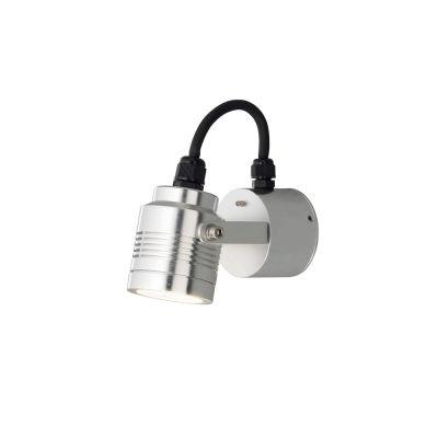 Konstsmide LED Wandaussenleuchte Silber IP54 Aussenleuchte Aluminium 240lm Verstellbar