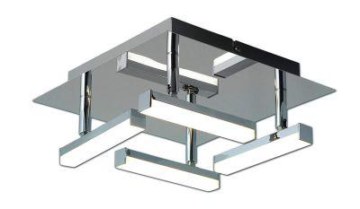 Deckenleuchte Chrom 4x LED je 5W/230V 1600lm Dimmbar LxBxH 25x25x11cm