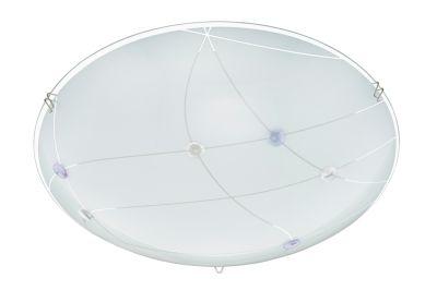 Briloner Deckenleuchte 1x LED 12W/230V 1200lm 3000K Weiß Glas Rund Ø30cm