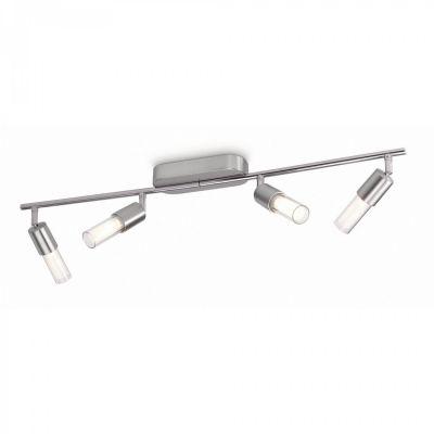 Philips Ledino Deckenleuchte Spot Schwenkbar LED 4flammig Silber Strahler