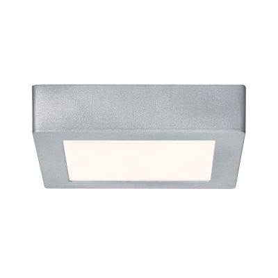 Eckige LED Deckenleuchte Panel 11W/230V Alu Chrom Matt 17x17x3,8cm 1230lm